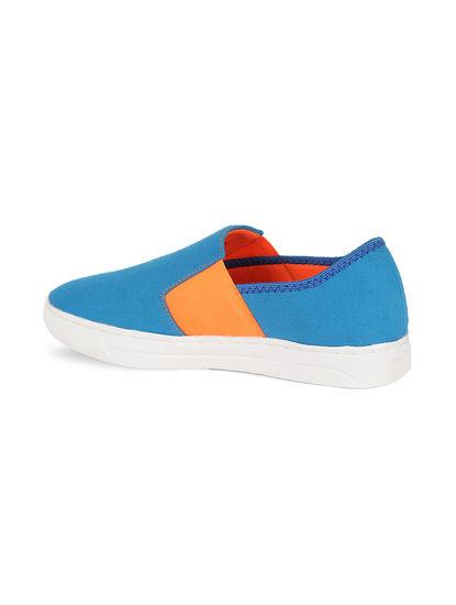 Khadim's Lazard Men Blue Casual Slip-On Sneakers
