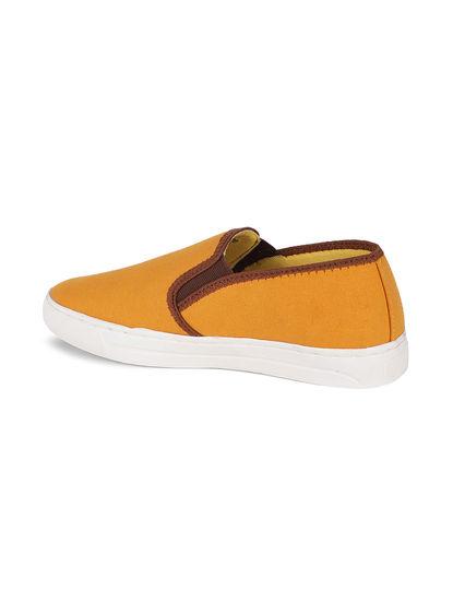 Khadim's Lazard Men Yellow Casual Canvas Shoe