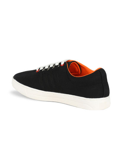 Khadim's Lazard Men Black Lifestyle Canvas Shoe