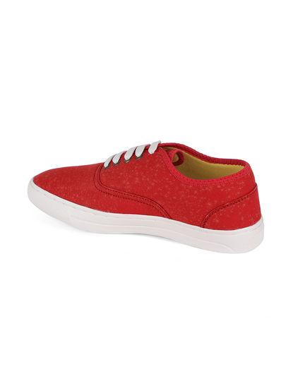 Khadim's Lazard Men Red Casual Canvas Shoe
