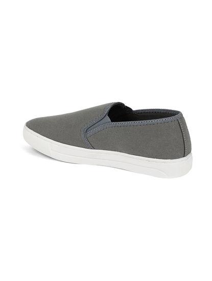 Khadim's Lazard Men Grey Casual Slip-On Sneakers