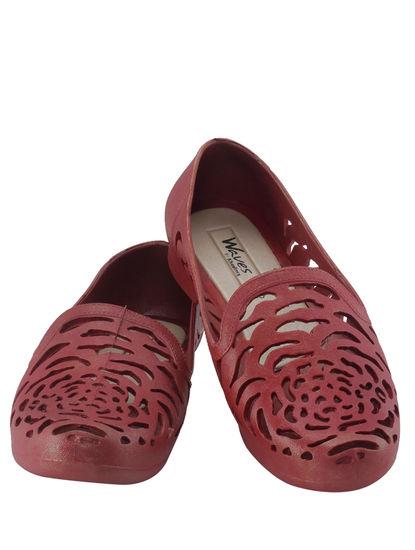 Khadim's Waves Women Maroon Loafer Shoe