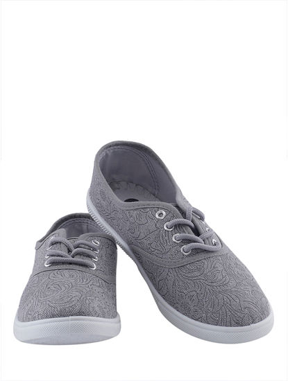 Khadim's Pro Women Grey Canvas Shoe
