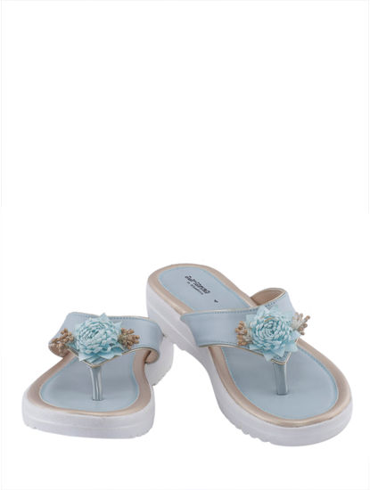 Khadim's Adrianna Girls Blue Flat Slipper