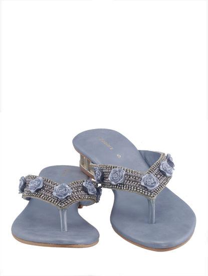 Khadim's Women Blue Slip-On Sandal