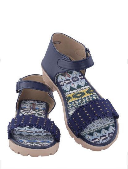 Khadim's Adrianna Girls Navy Flat Sandal