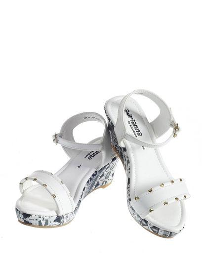 Adrianna Girl White Lifestyle Heel Sandal