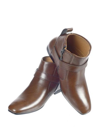 Khadim's Boy Brown Lifestyle Dress Boots