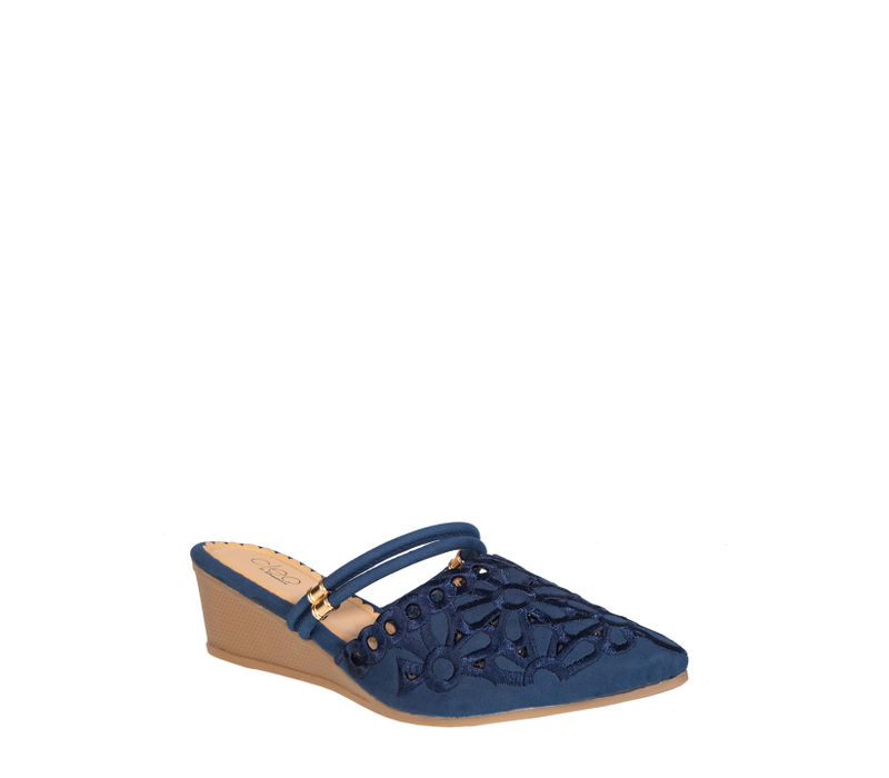 Cleo Women Navy Casual Clog Sandal