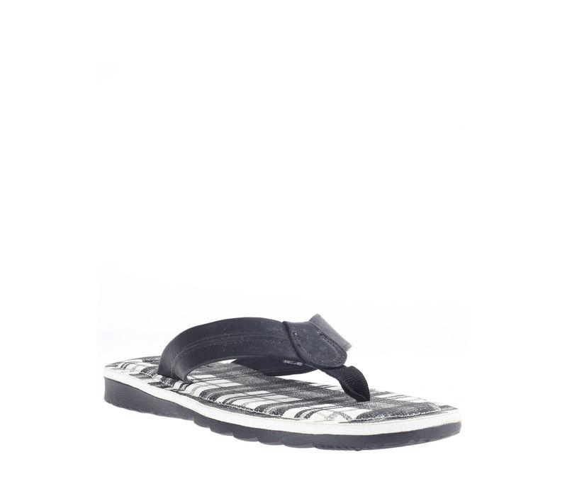 Khadim's Black Casual Outdoor Slipper