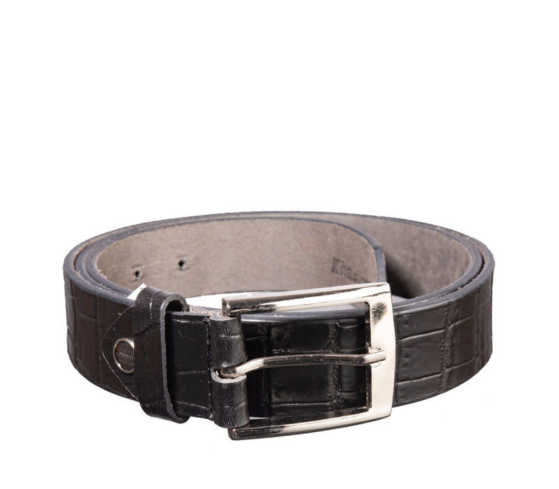 Khadim's Black Casual Leather Belt