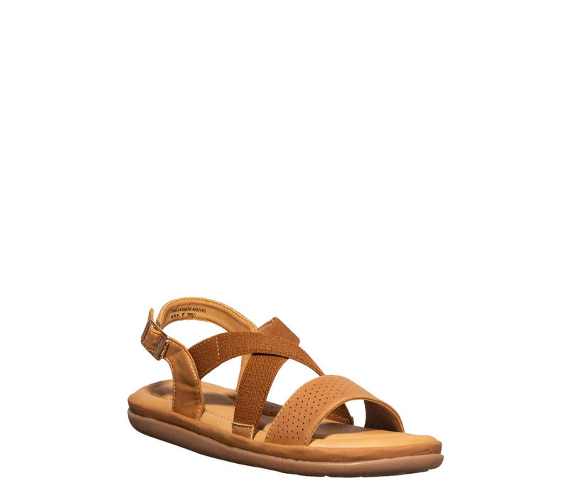Softouch Tan Casual Flat Sandal
