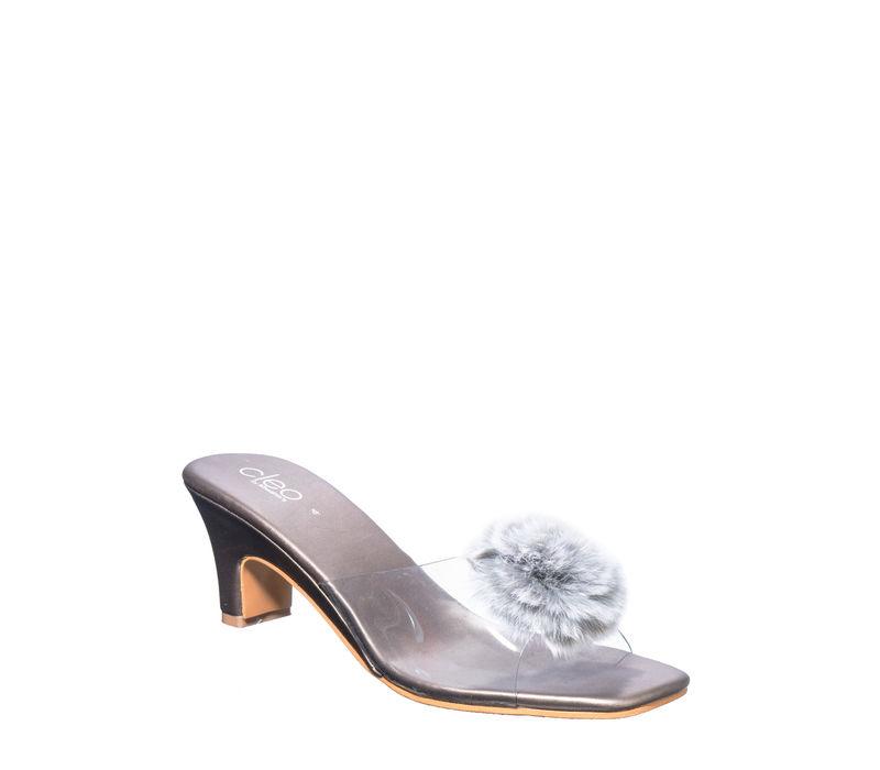 Cleo Grey Casual Heel Sandal