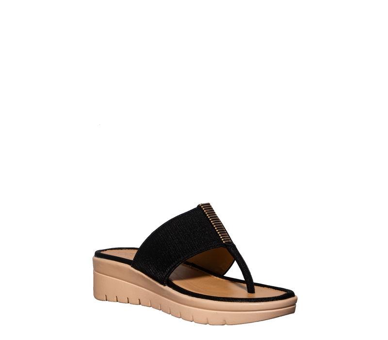 Cleo Black Lifestyle Slip-On Sandal