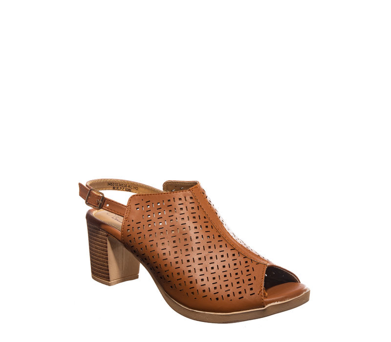 Cleo Tan Casual Mule Sandal