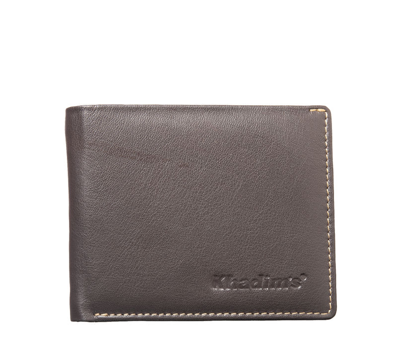 Khadim's Unisex Brown Single-fold Wallet