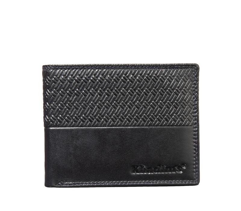 Khadim's Men Black Single-fold Wallet