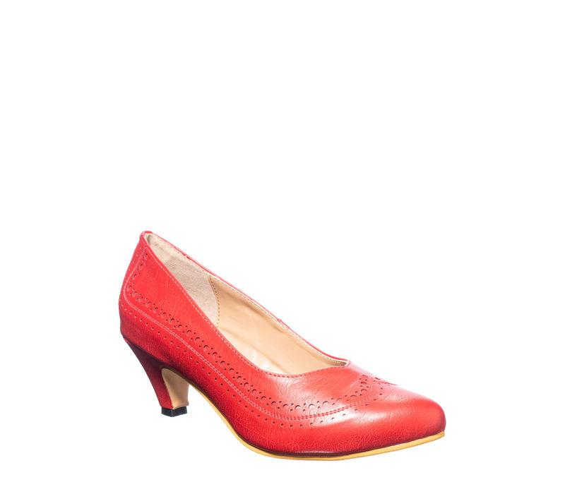 Sharon Cherry Casual Ballerina Shoe