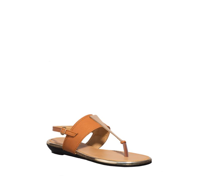 Cleo Tan Lifestyle Strap-On Sandal