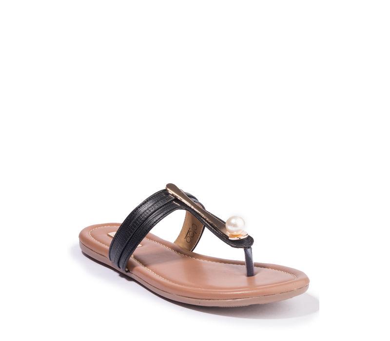 Khadim's Cleo Women Black Casual Flat Sandal