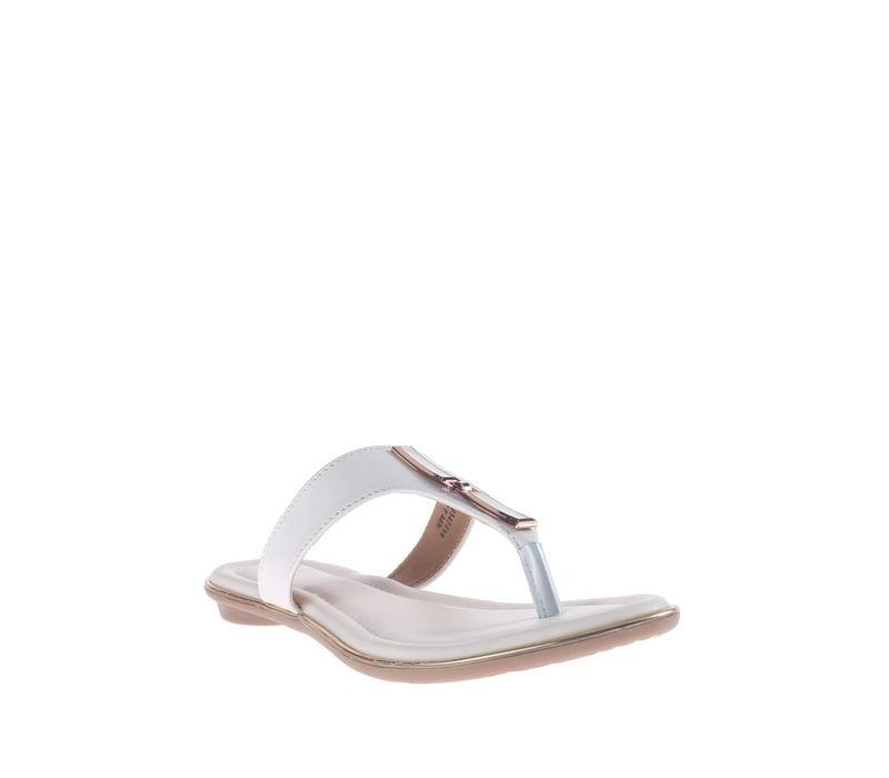 Khadim's White Casual Slip-On Sandal