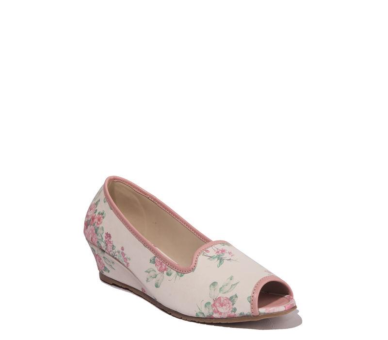 Cleo White Casual Ballerina Shoe