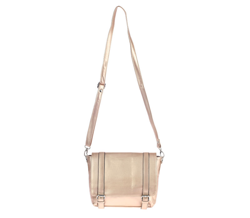 Khadim's Rose Gold Satchel Sling Bag