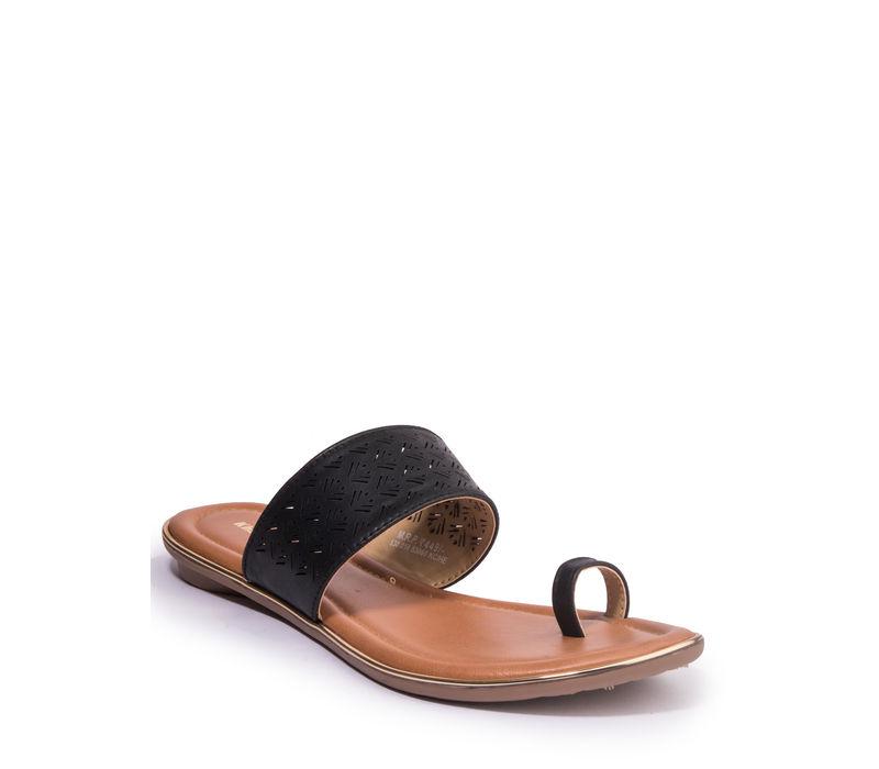Khadim's Women Black Casual Flat Sandal