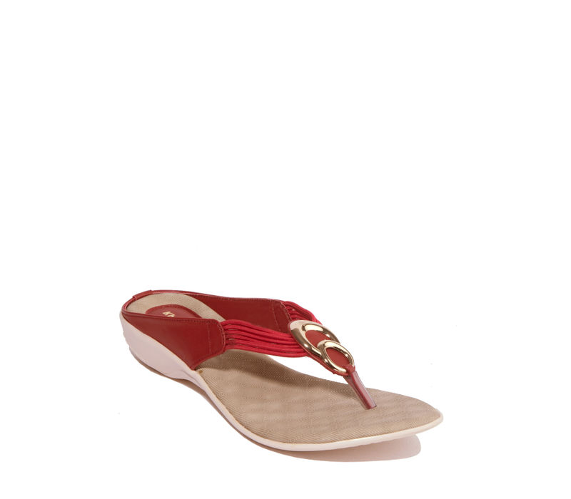 Khadim's Cherry Casual Heel Sandal