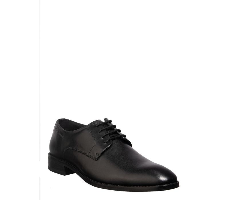 British Walkers Men Black Formal Derby Shoe