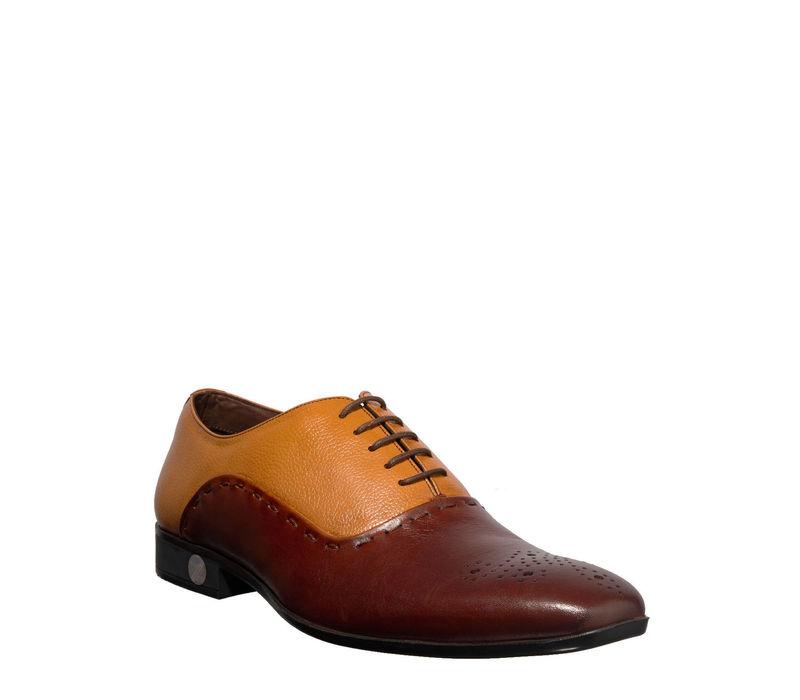 British Walkers Men Brown Formal Oxford Shoe