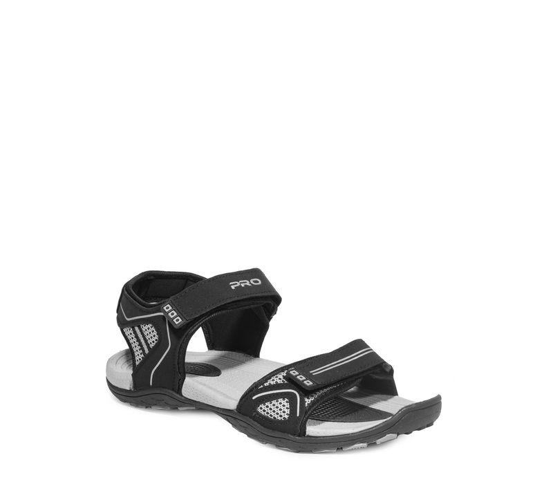 Pro Black Casual Floater Sandal