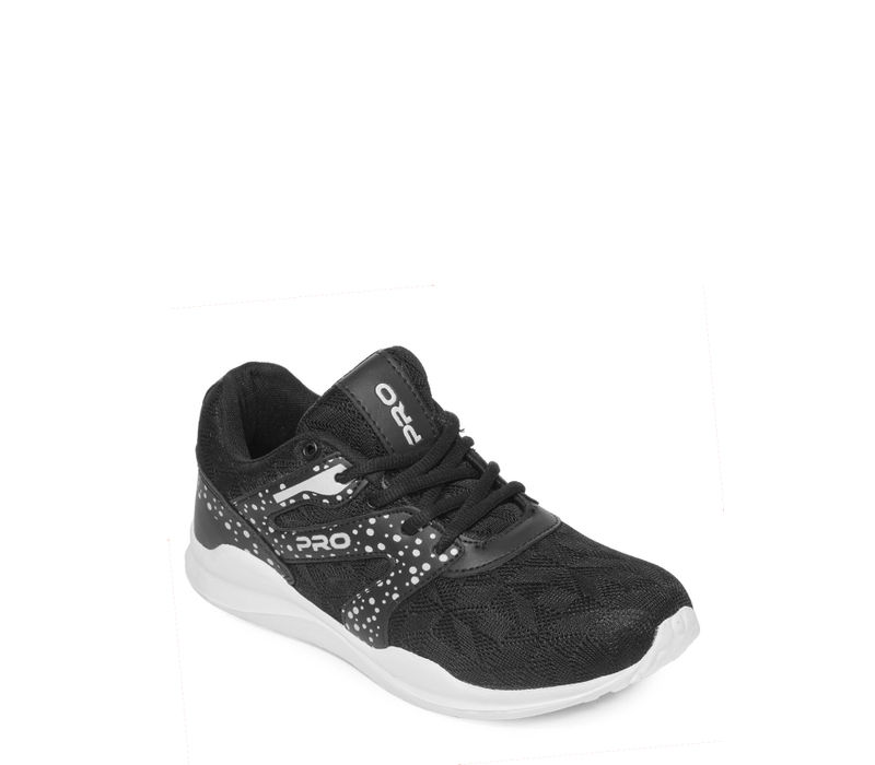 Pro Black Casual Dress Sneakers