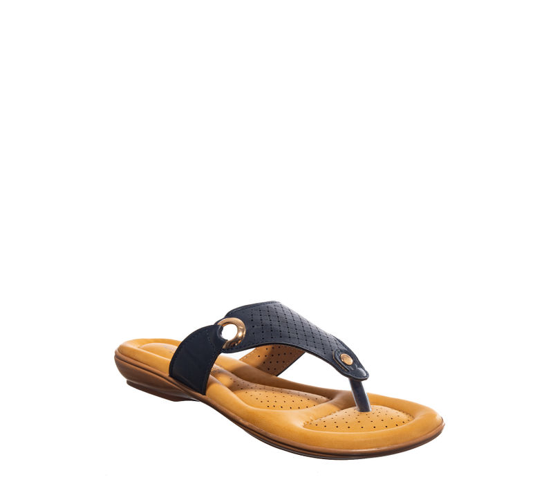 Softouch Black Casual Flat Sandal