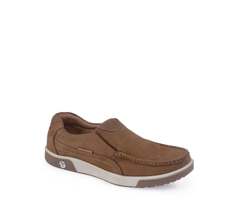 British Walkers Men Tan Lifestyle Slip-On Shoe