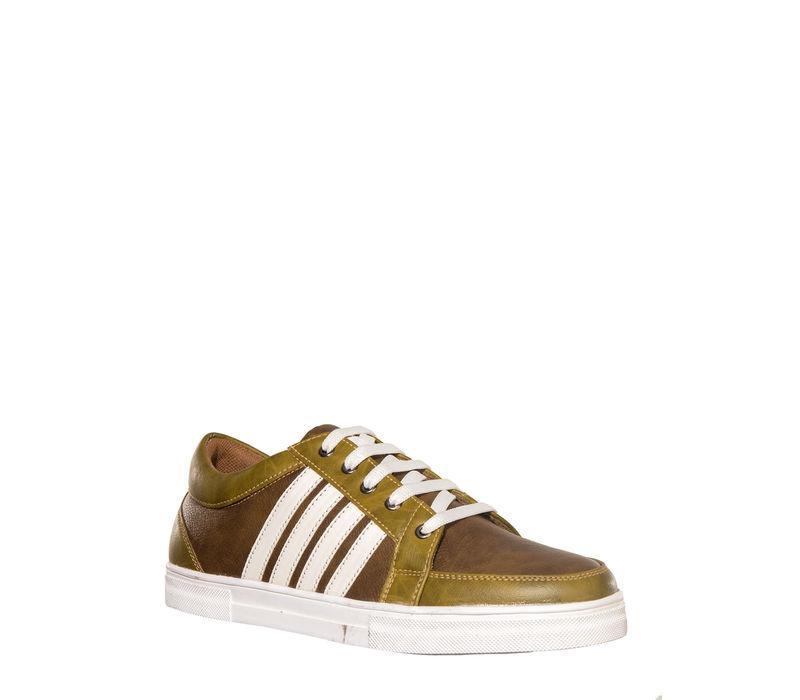 Khadim's Lazard Men Olive Lifestyle Dress Sneakers