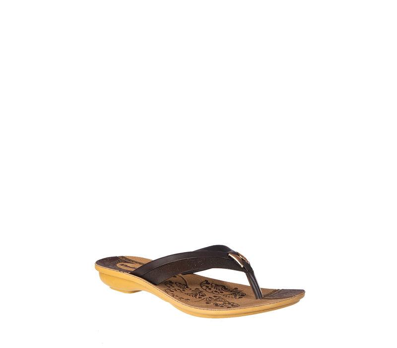 Khadim's Women Brown Casual Flat Slipper