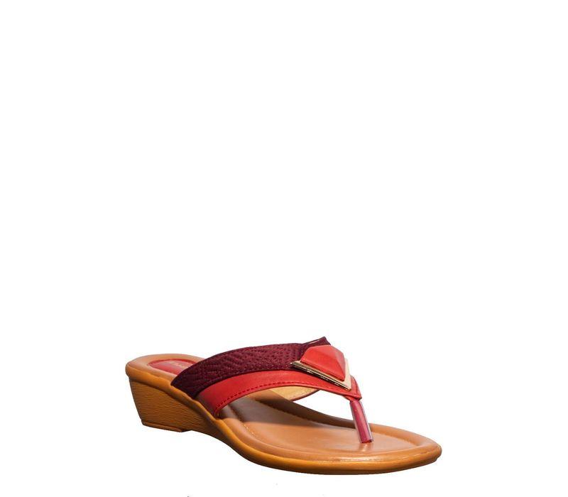 Khadim's Women Red Casual Slip-On Sandal