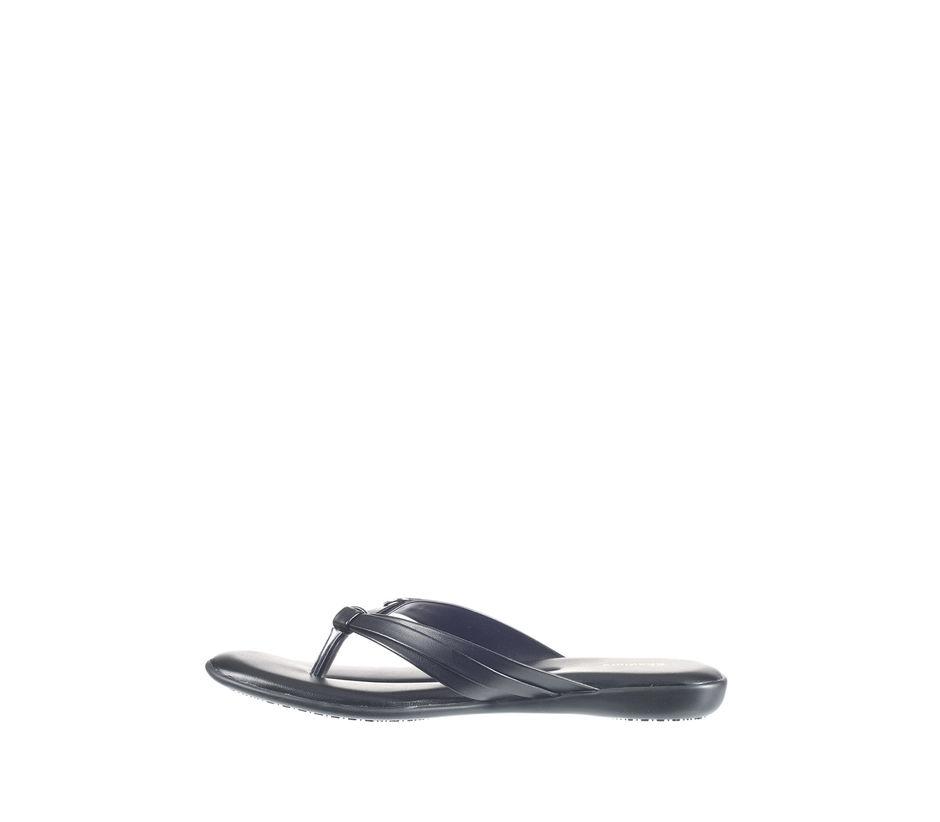 Khadim's Women Black Casual Flat Slipper