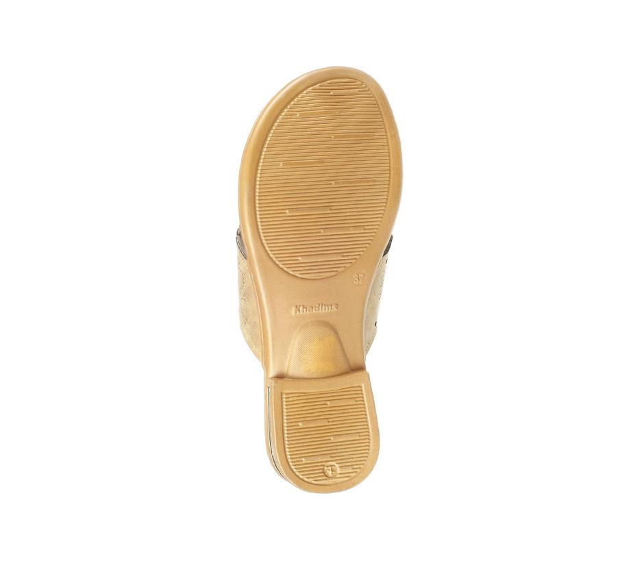 Khadim's Women Tan Casual Slip-On Sandal