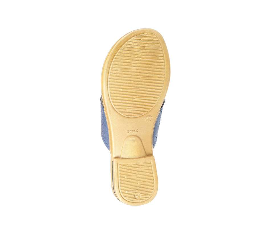 Khadim's Women Blue Casual Slip-On Sandal