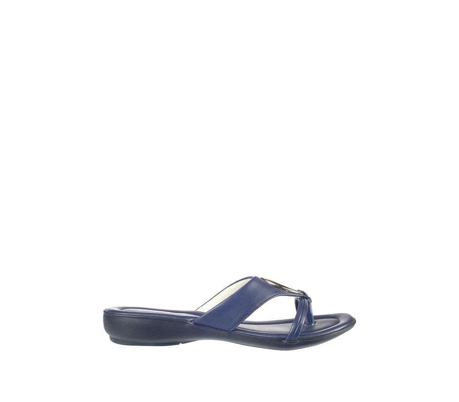 Khadim's Women Navy Casual Slip-On Sandal