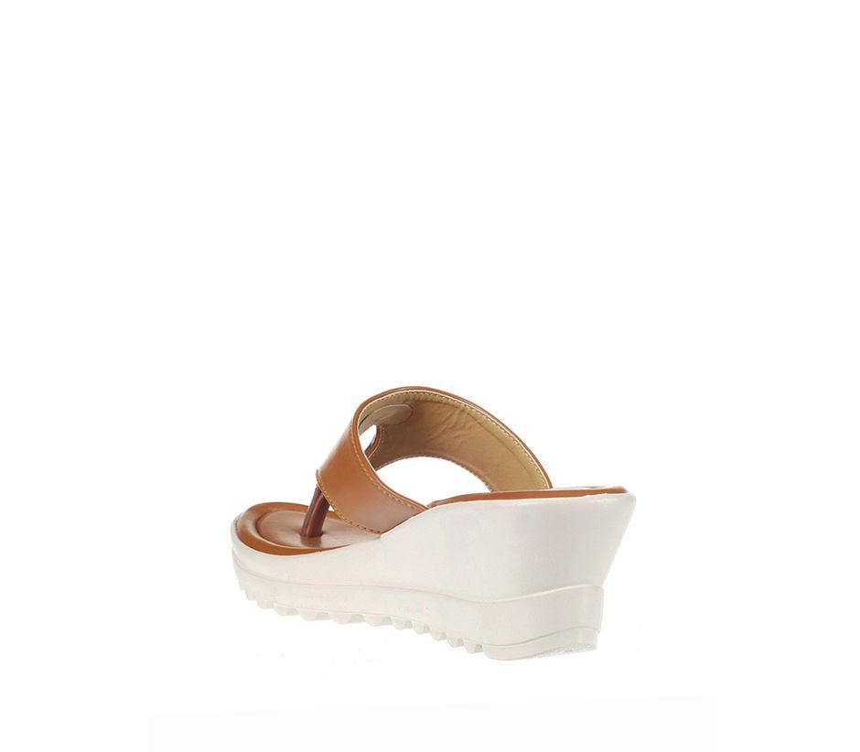 Khadim's Women Tan Casual Heel Sandal