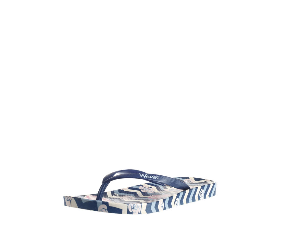 Waves Women Navy Casual Outdoor Flip-Flop