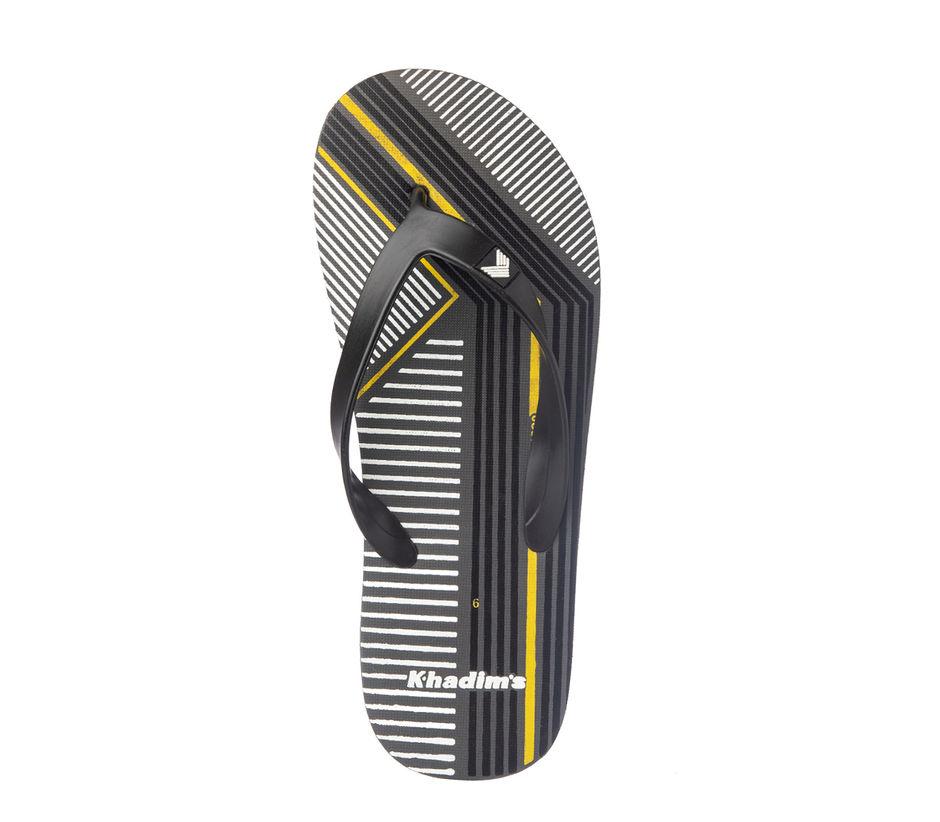 Khadim's Men Grey Casual Outdoor Flip-Flop