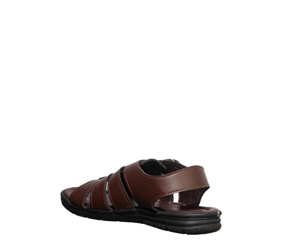 Khadim's Brown Casual Strap-On Sandal
