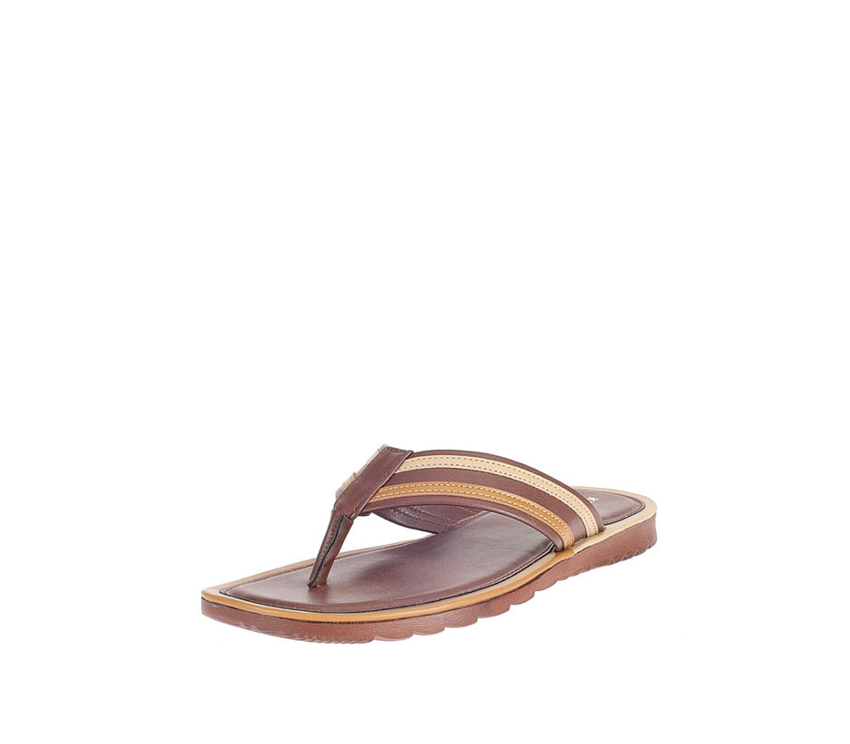 Khadim's Brown Lifestyle Outdoor Slipper