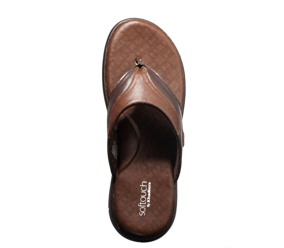 Softouch Men Brown Casual Dress Slipper