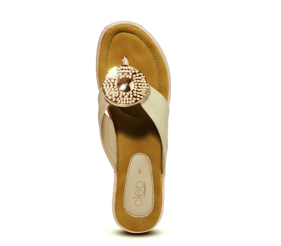 Cleo Beige Lifestyle Heel Sandal