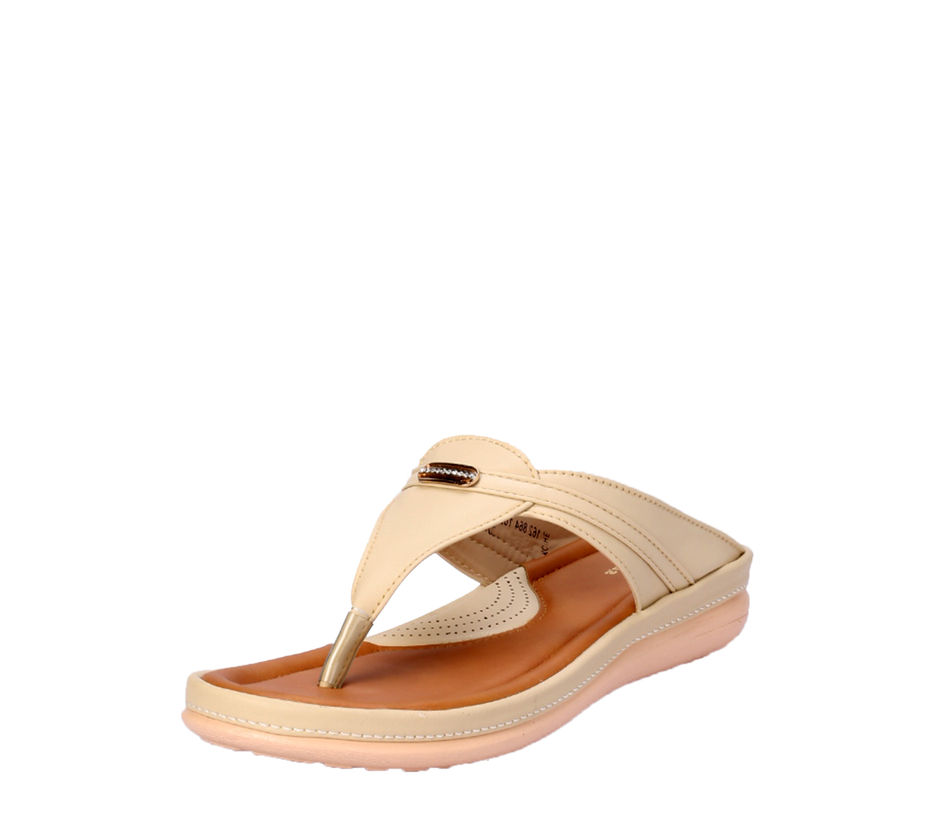 Khadim's Beige Casual Slip-On Sandal